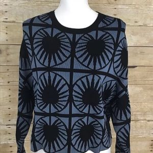 & OTHER STORIES Geometric Burst Cropped Sweater XS